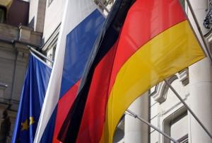 Российский и германский флаги