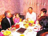 Павел Ипатов в гостях у семьи Рыжаковых