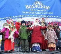 Учащиеся фольклорного отделения детской школы искусств № 1. Руководители Н. Постнова и А. Кирюшина