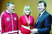 (слева направо) Анатолий Репин, Анастасия Репина и Иван Панков