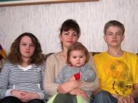 Глава Осиновского муниципального образования - Жанна Алексеевна Андрис со своими детьми