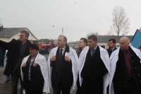 Председатель Саратовской областной думы Валерий Радаев, депутаты Николай Кузнецов и Александр Ландо на племзаводе «Мелиоратор»