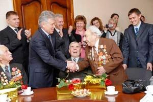 Встреча Павла Ипатова с ветеранами Марксовского района