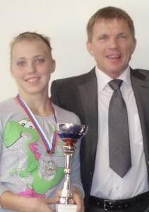 Тренер Анатолий Репин и его чемпионка Анастасия Репина
