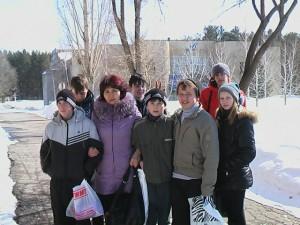 Дети из коррекционной школы- интернат г. Маркса в Орленке
