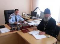 Протоиерей Валерий Генсицкий и полковник полиции Эврик Мзоков