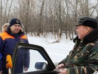 Рейд против рыбаков на льду Волги