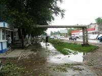 Проспект Строителей после урагана