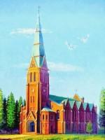 Здания бывшей церкви в Зоркино