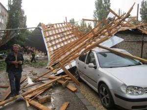 Обрушение крыши дома