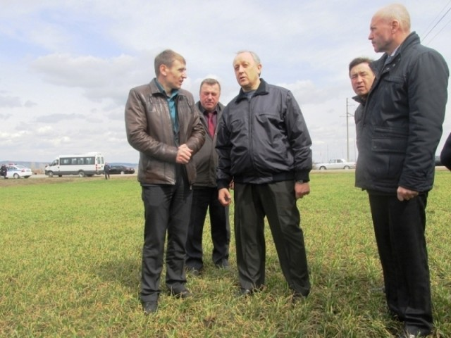 Радаев ознакомился с ходом весенне-полевых работ