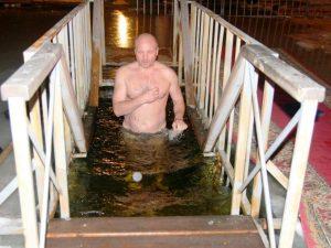 Олег Тополь на крещении