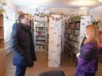 Дмитрий Романов в михайловской библиотеке