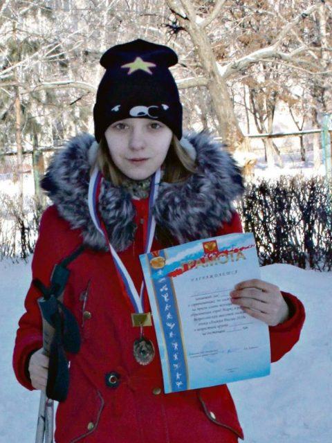 Алёна Бискуп, ученица школы № 4, 8 класс