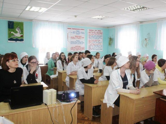 Лекция об опасности наркотиков в медучилище