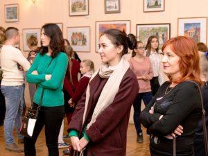 В Марксе открылась творческая выставка «Город – глазами детей»
