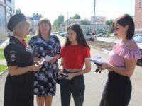 Марксовским школьникам раздали памятки с правилами дорожного движения