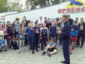 Полицейские рассказали отдыхающим в «Орленке» о незаконности наркотиков