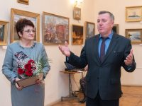 Выставка Белянина «Река времени» открылась в школе искусств