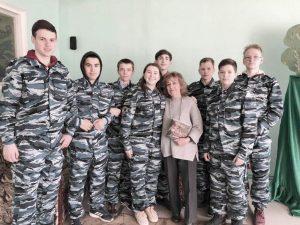 Отряд «Юный друг полиции» провел акцию к 8 Марта