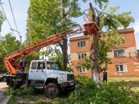 Последствия урагана 14 июля в поселке Осиновском